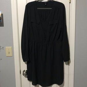 Black long sleeve dress XXL